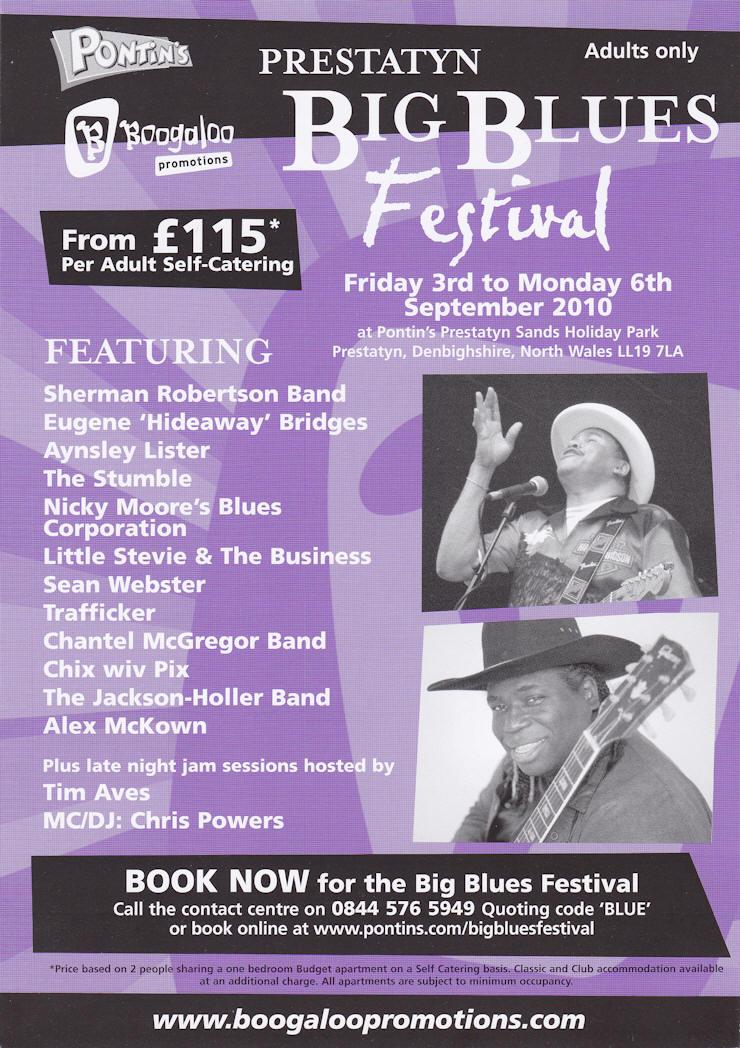 Blues Festivals UK/E10